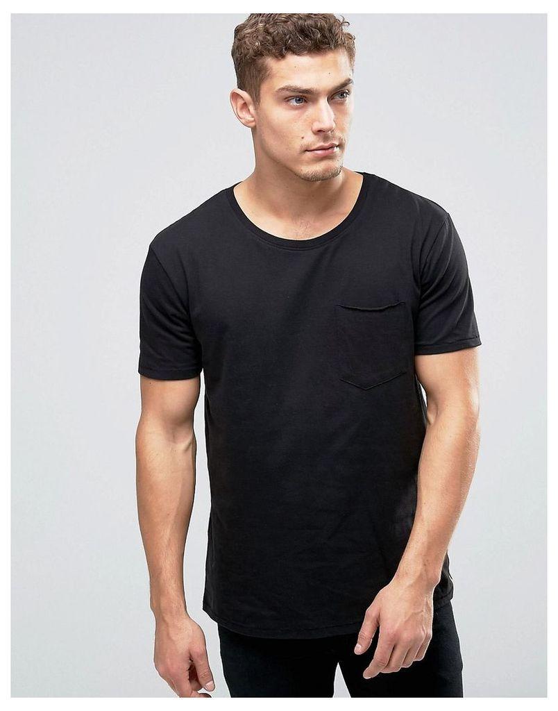 Nudie Ove Pocket T-Shirt - Black
