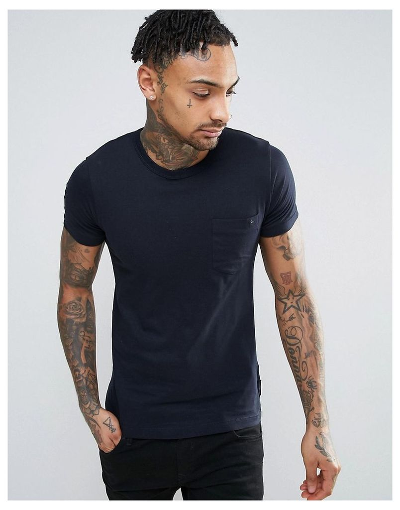 French Connection Pocket T-Shirt - Navy