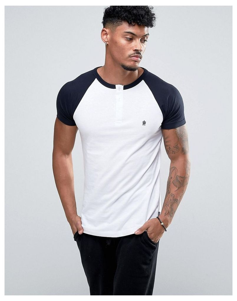 French Connection Raglan Grandad T-Shirt - White