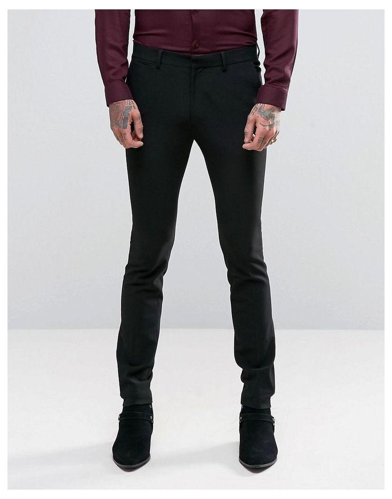 ASOS Super Skinny Suit Trousers In Black - Black