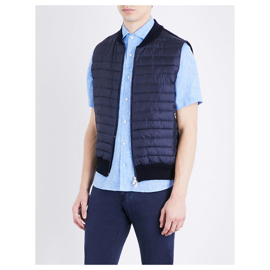 Quilted shell and cotton gilet