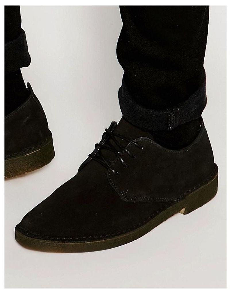 Clarks Originals Desert London Shoes - Black