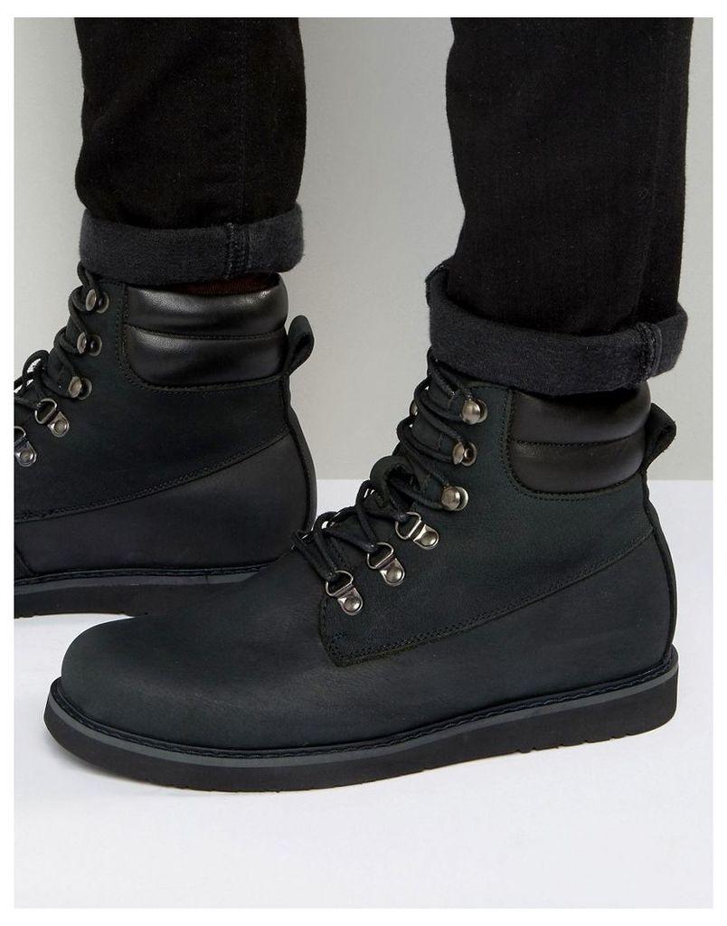 Bellfield Noma Nubuck Laceup Boots - Black