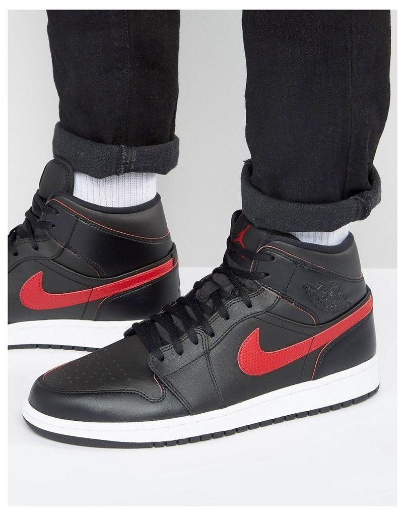 Nike Jordan Air Jordan 1 Trainers In Black 554724-009 - Black