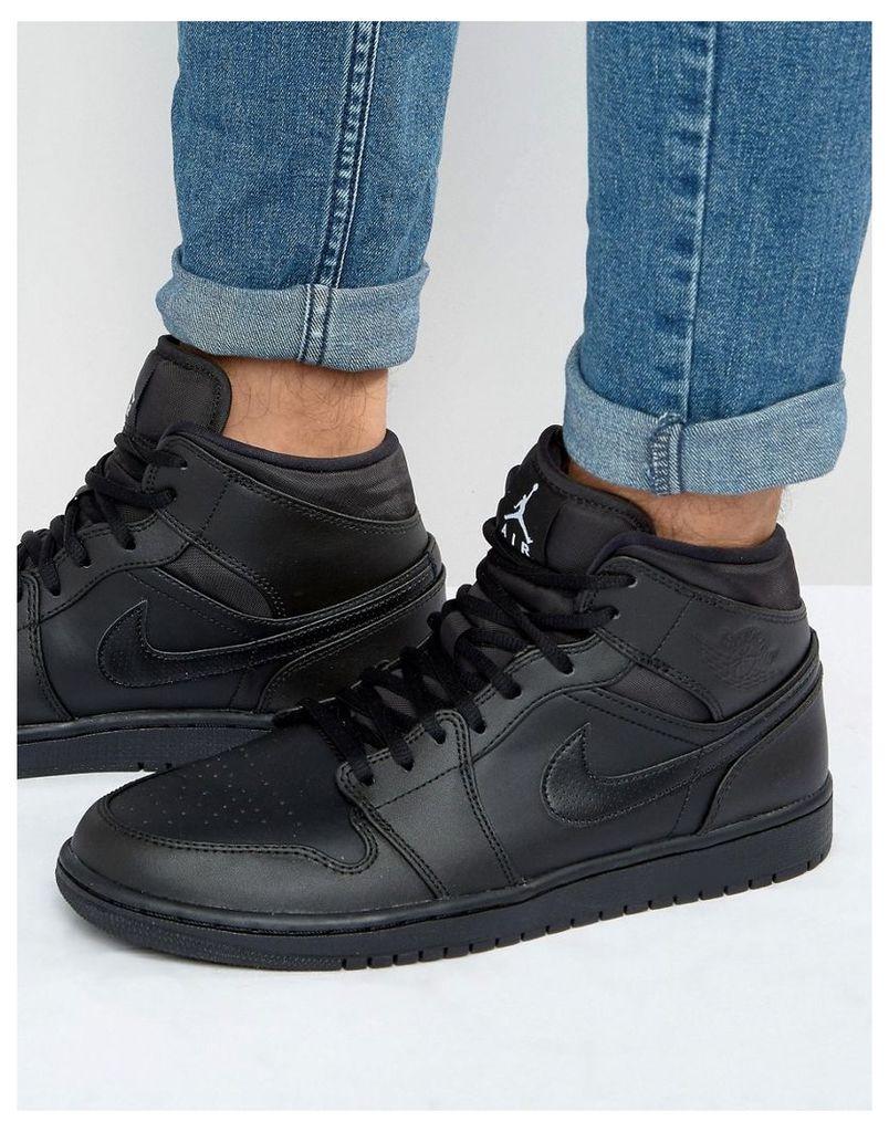 Nike Jordan Air Jordan 1 Trainers In Black 554724-034 - Black