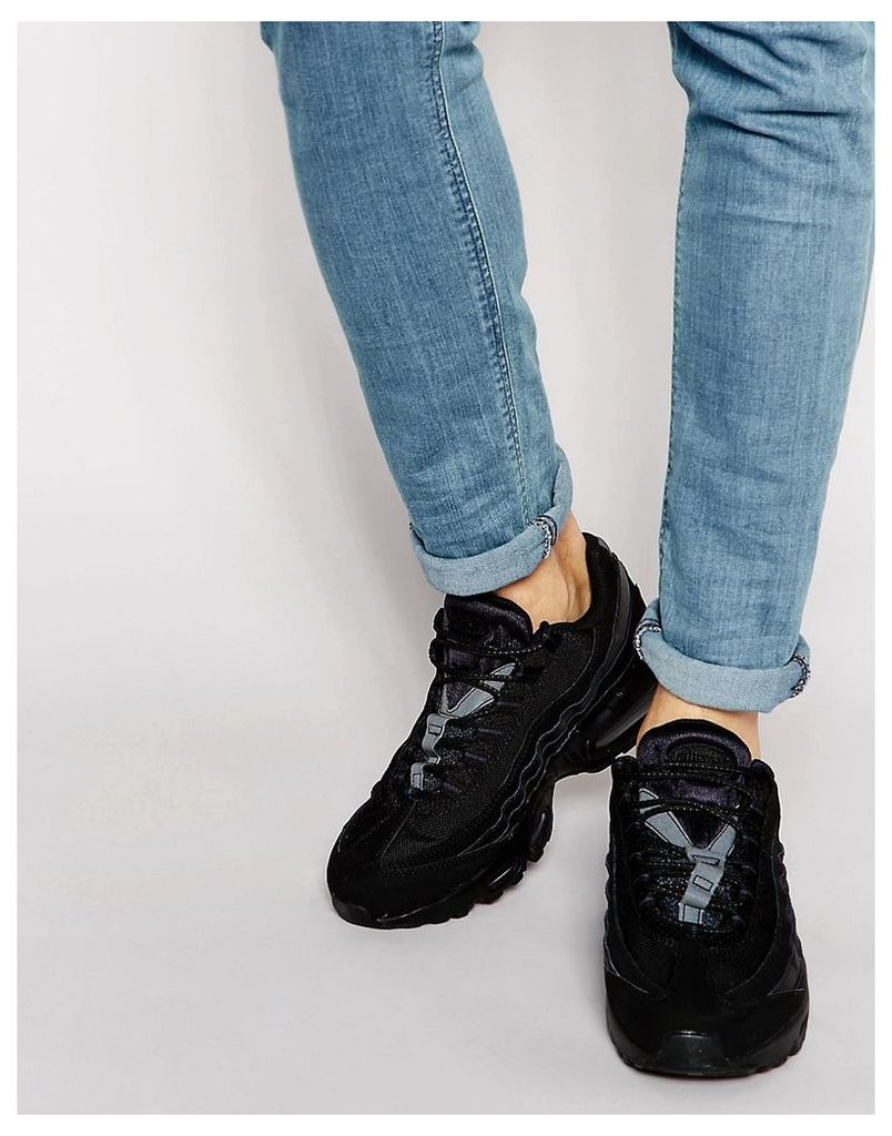 Nike Air Max 95 Leather Trainers 609048-092 - Black
