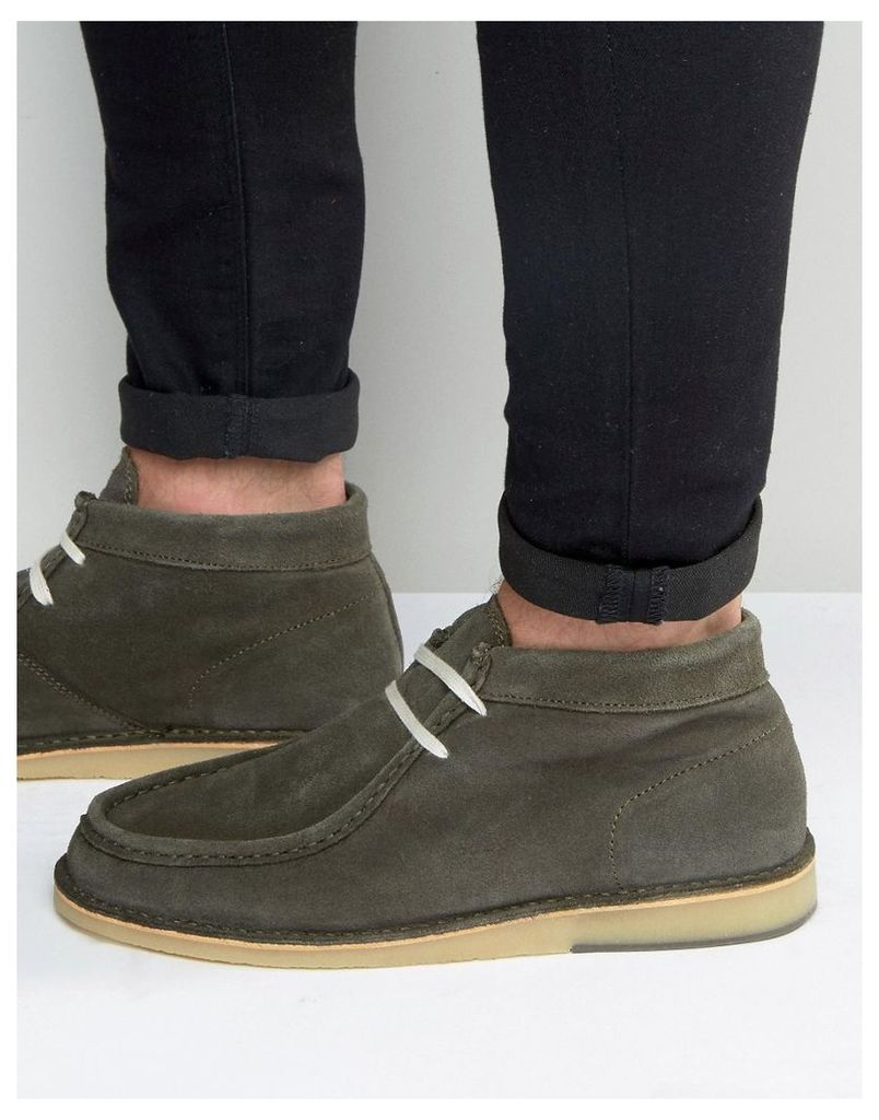 Selected Homme Ronni Suede Boots - Green
