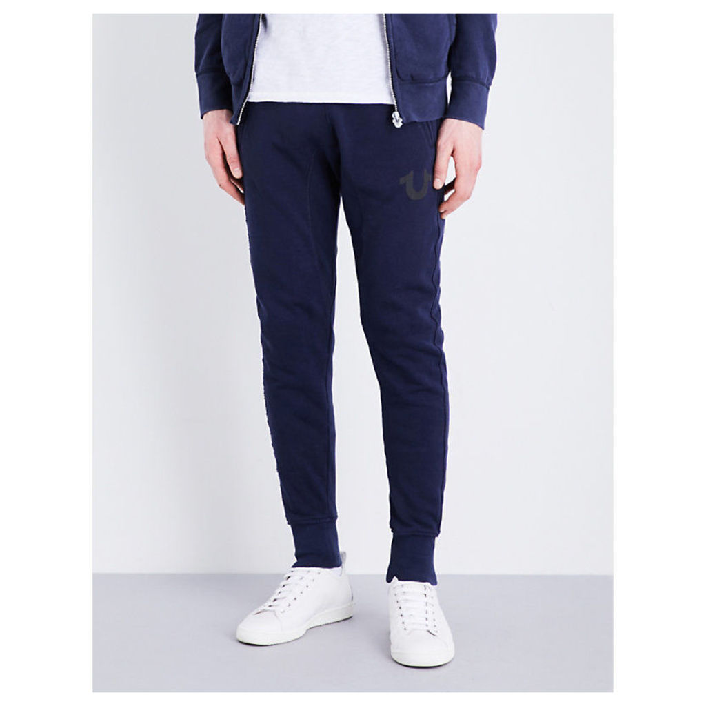 Relaxed-fit skinny cotton-jersey jogging bottoms