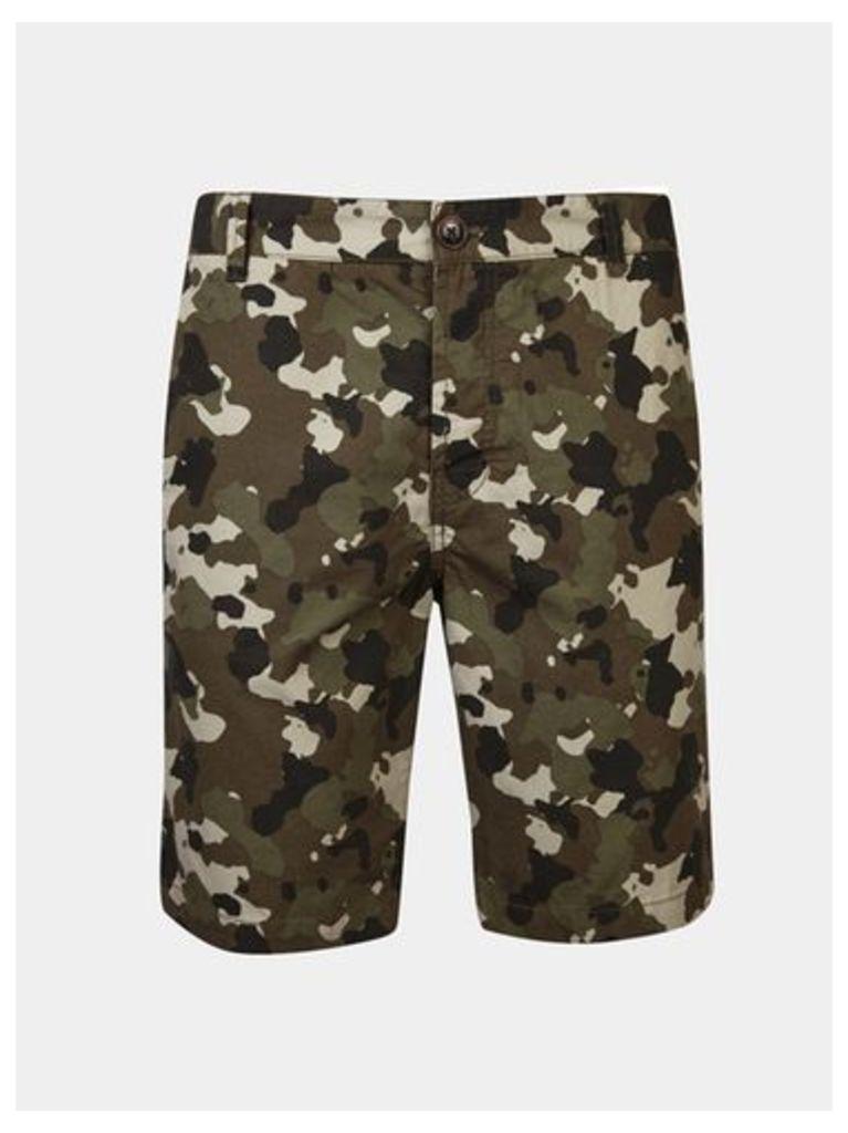 Mens Threadbare Khaki Camouflage Shorts*, KHAKI