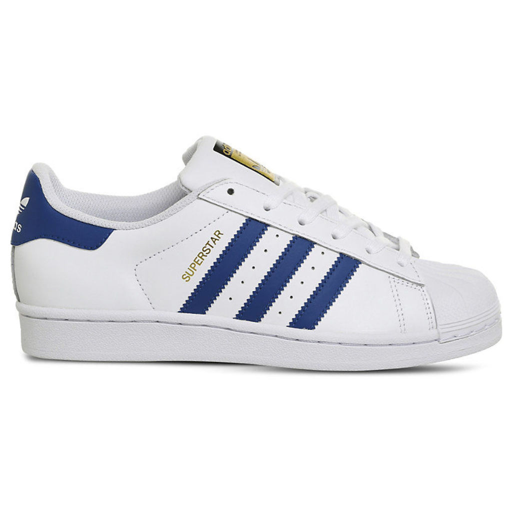 Adidas Superstar GS trainers, Mens, Size: 5.5, White blue