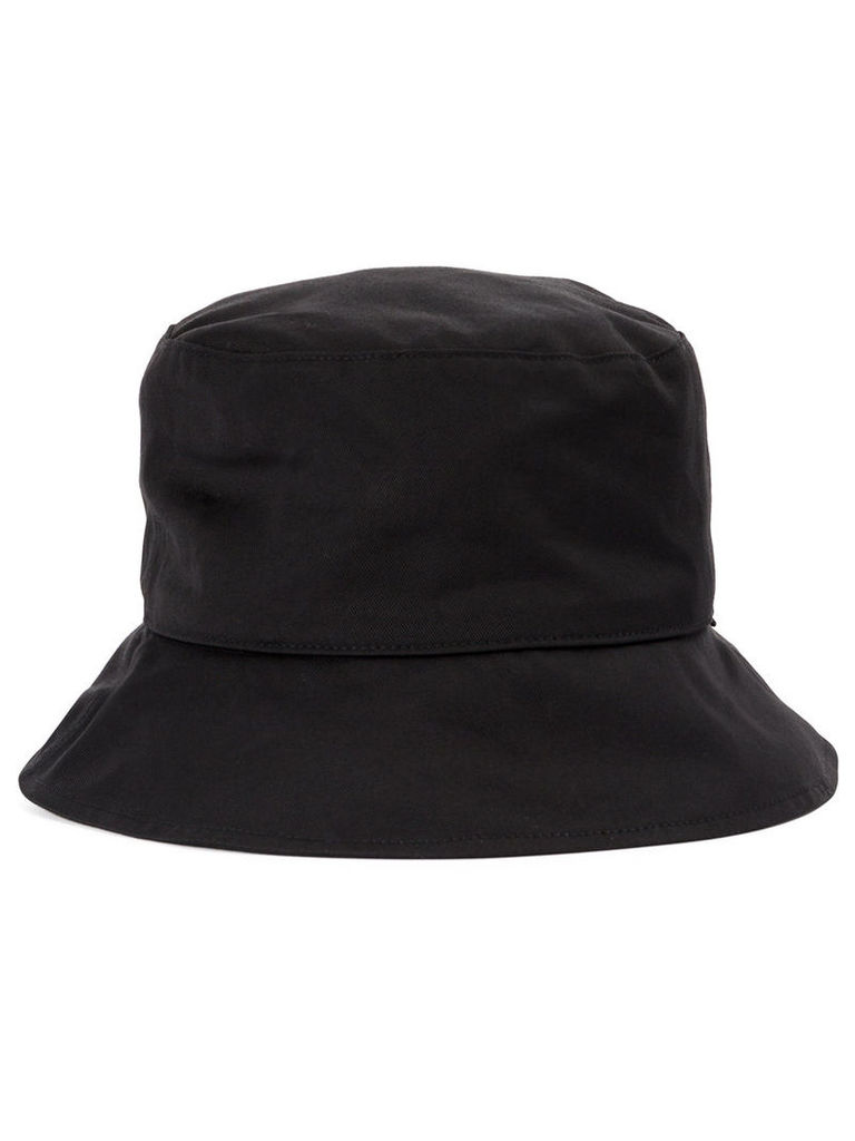 Kijima Takayuki strap detail bucket hat, Men's, Black