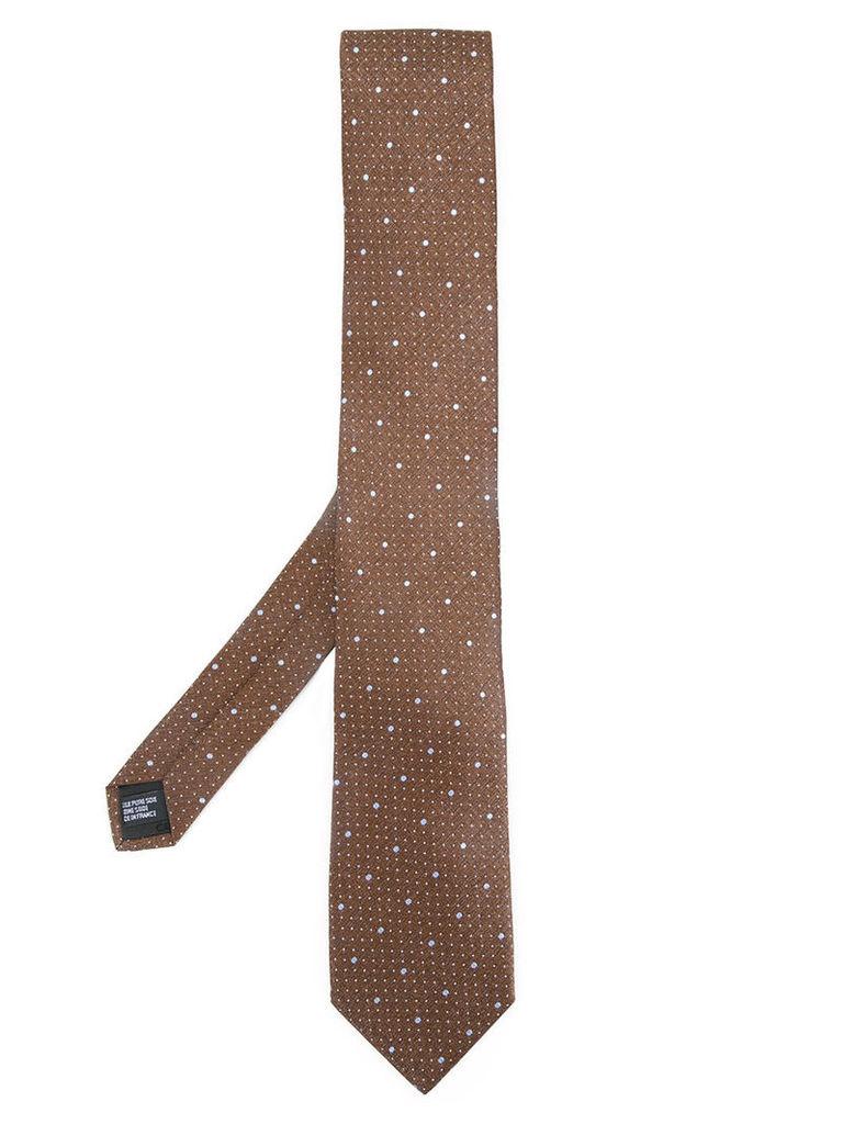 Cerruti 1881 dot print tie, Men's, Brown