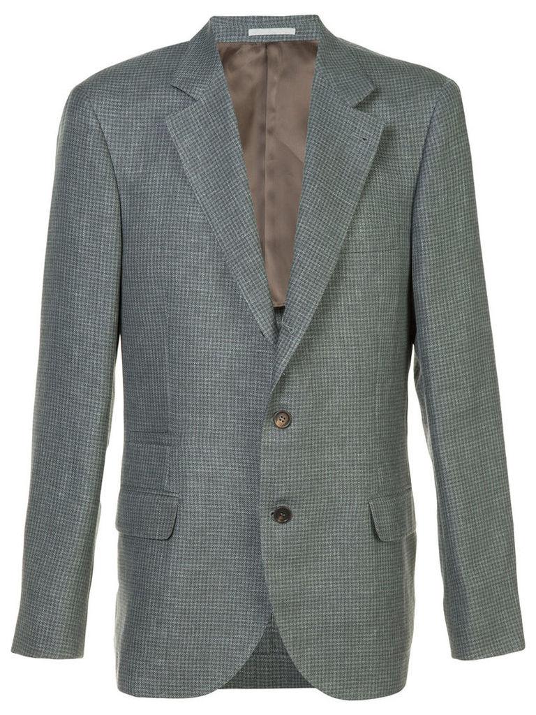 Brunello Cucinelli single breasted blazer, Men's, Size: 56, Grey