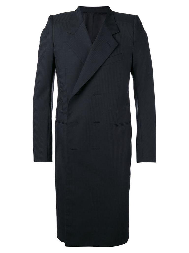 Balenciaga double-breasted coat, Men's, Size: 48, Black