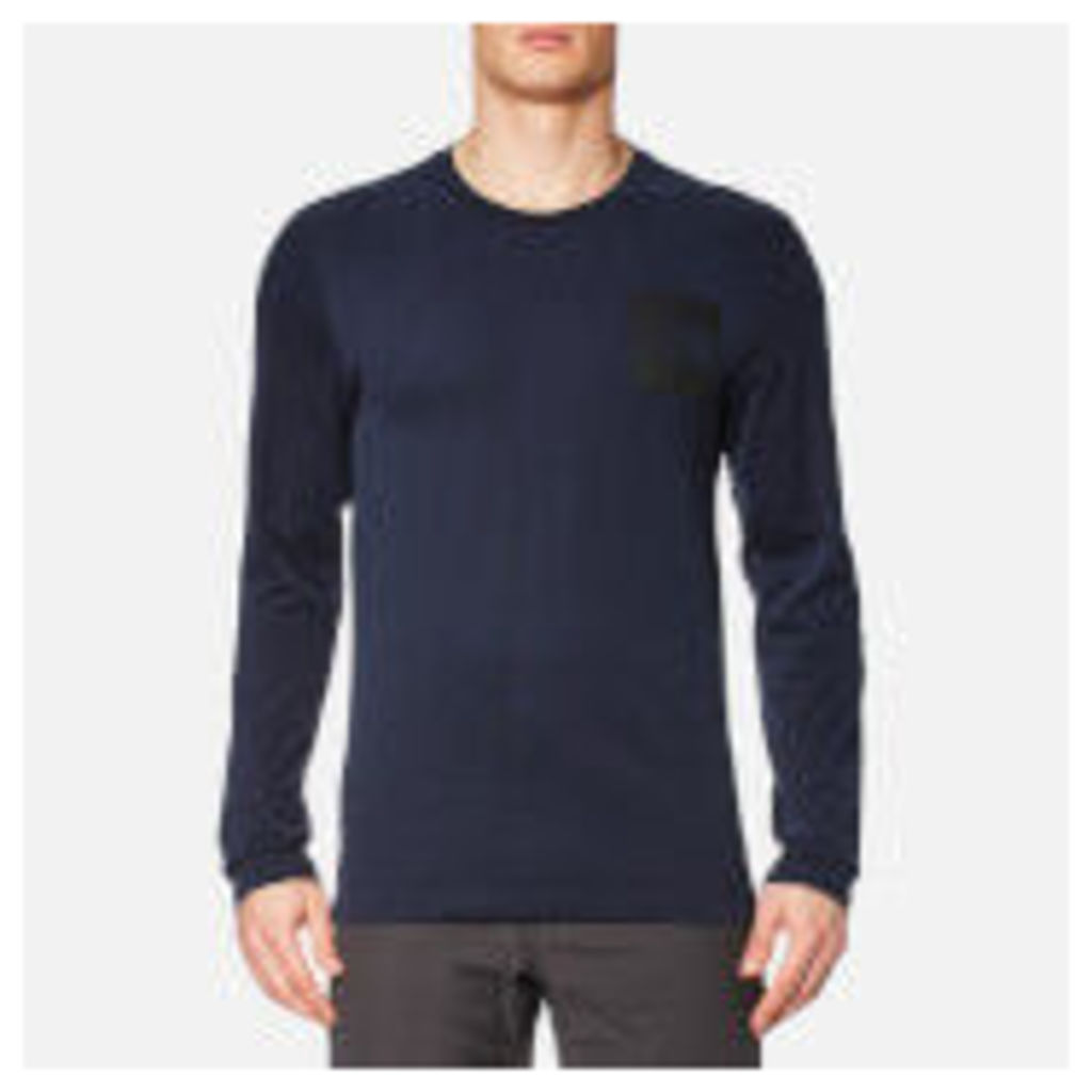 The North Face Men's L/S Fine T-Shirt - Urban Navy - XXL