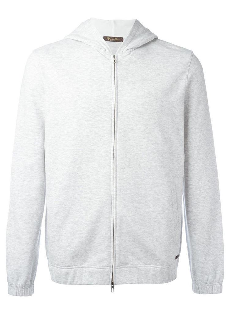 Loro Piana zipped hoodie, Men's, Size: Large, Grey