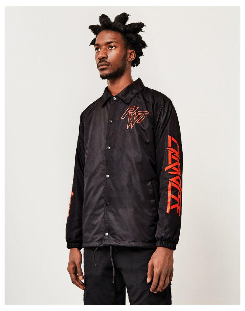 The Idle Man Paradise Coach Jacket Black