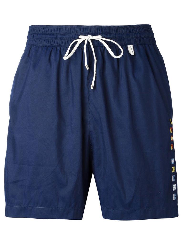 Loro Piana drawstring swimming shorts, Men's, Size: XL, Blue