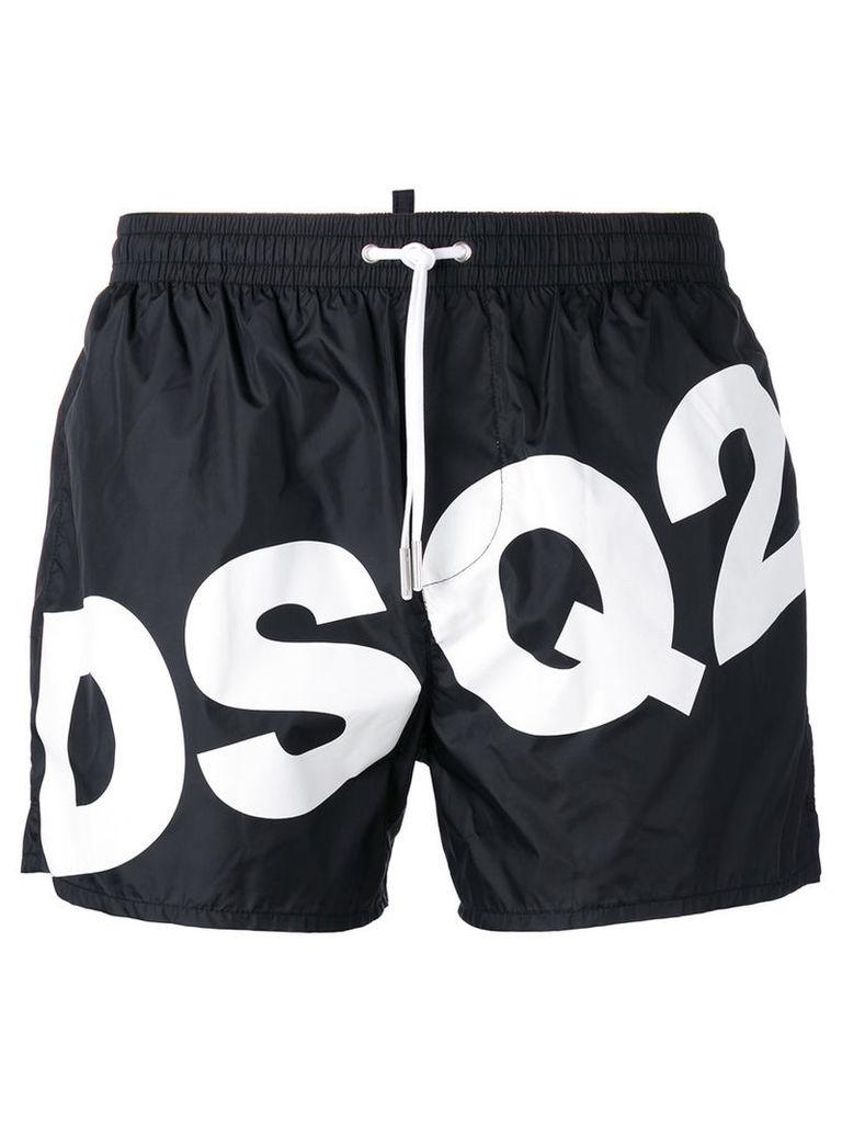Dsquared2 slanted logo swim shorts, Men's, Size: 52, Black
