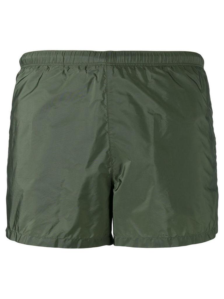 Prada elasticated waistband swim shorts, Men's, Size: 48, Green