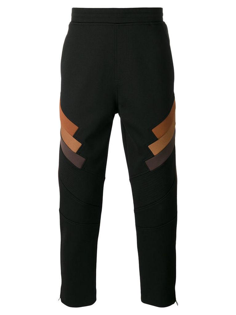 Neil Barrett drop-crotch trousers, Men's, Size: 46, Black