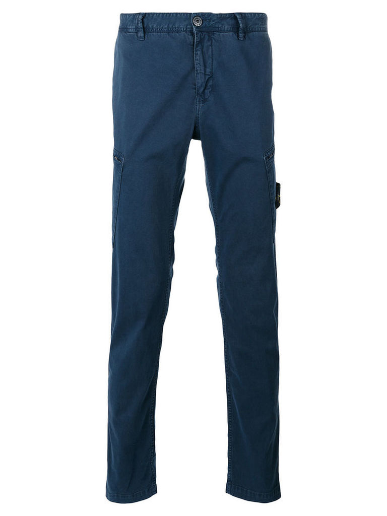 Stone Island tapered cargo trousers, Men's, Size: 30, Blue