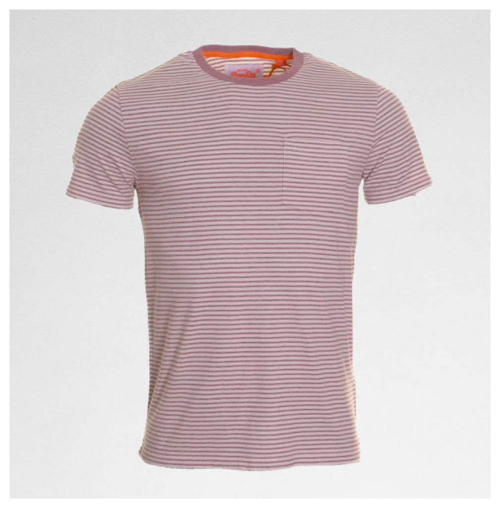 O L Workwear Stripe Pkt Tee