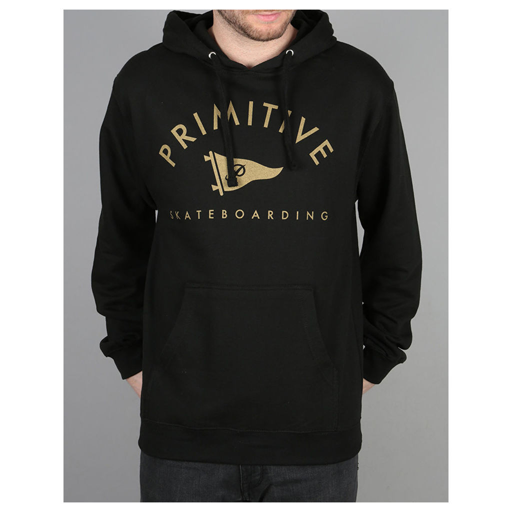 Primitive Arch Pennant Pullover Hoodie - Black (L)