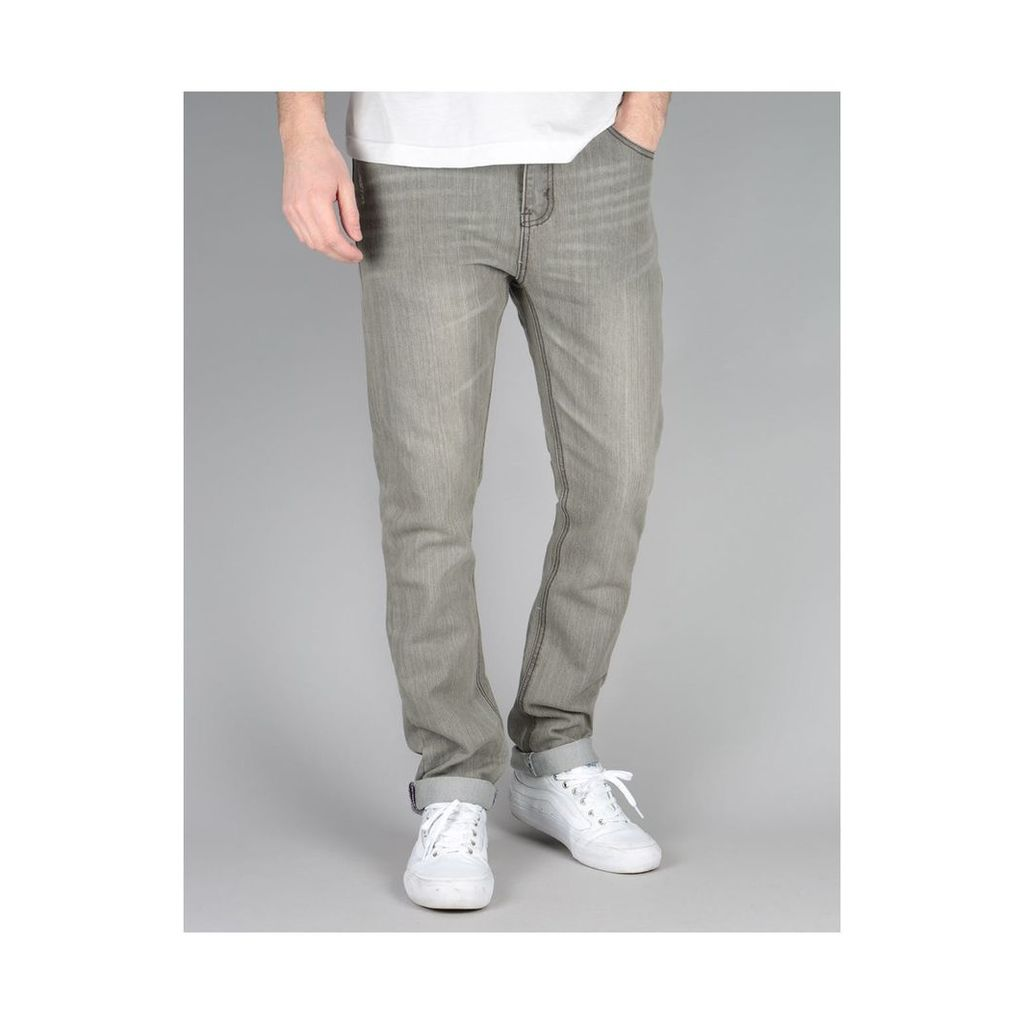 Route One Skinny Denim Jeans - Old Washed Grey (30)