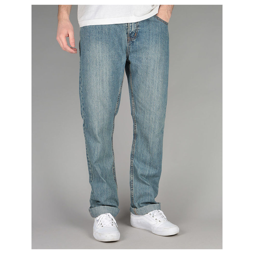 Route One Slim Denim Jeans - Old Light Wash (30)