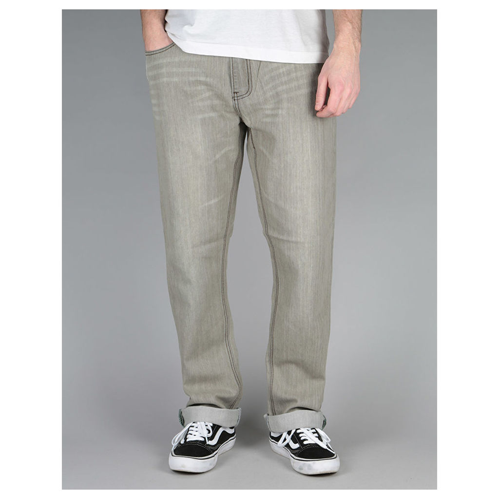 Route One Slim Denim Jeans - Old Washed Grey (28)