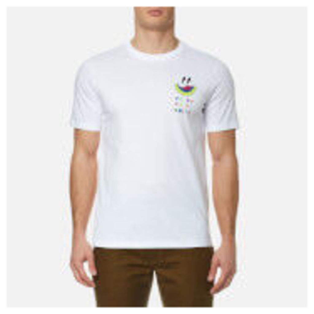 PS by Paul Smith Men's Melon Reverse Print T-Shirt - White - XL