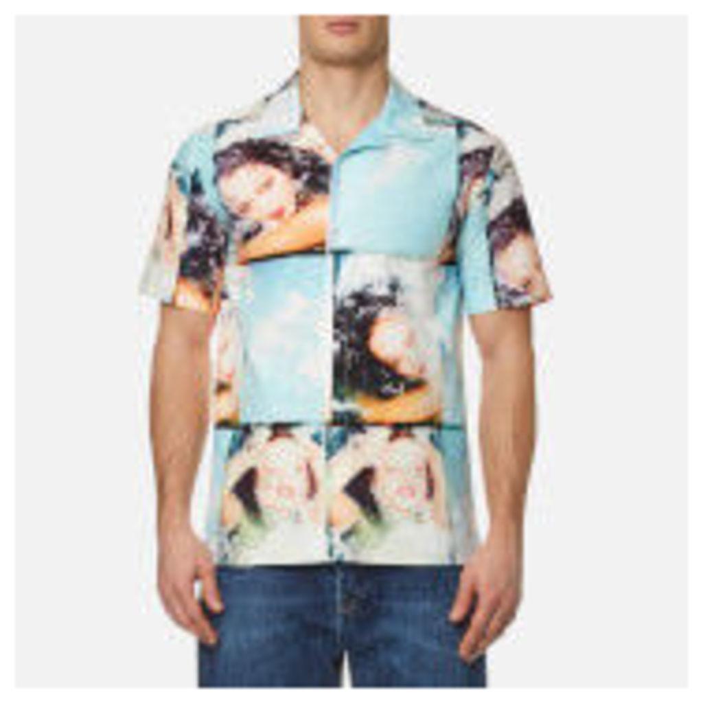KENZO Men's Pyjama Collar Printed Short Sleeve Shirt - Glacier - L