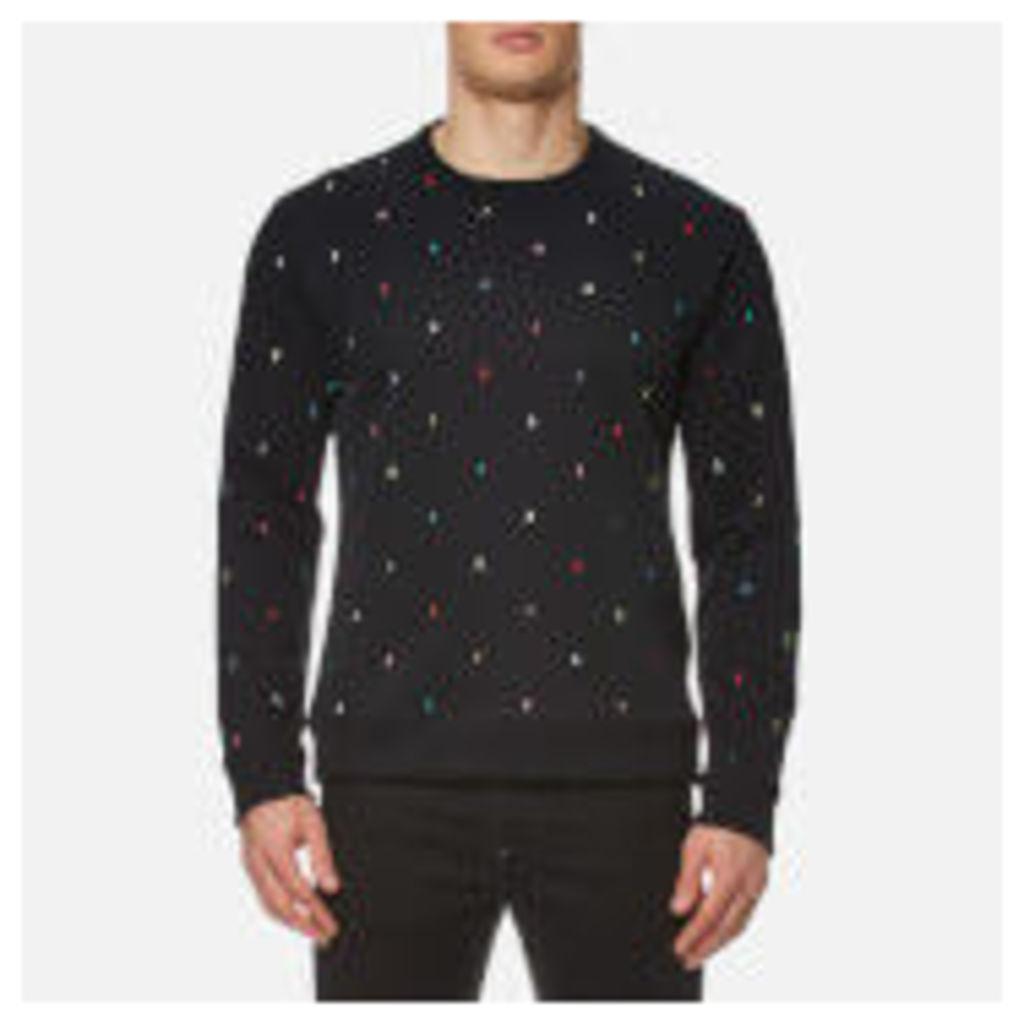 KENZO Men's Embroidered Letters Sweatshirt - Black - XL