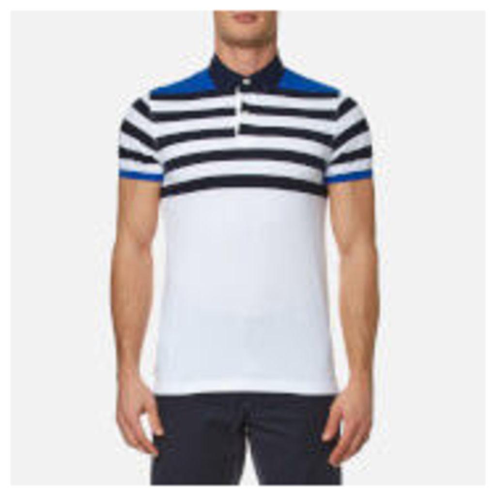 Tommy Hilfiger Men's Niels Stripe Polo Shirt - Nautical Blue/White - XXL