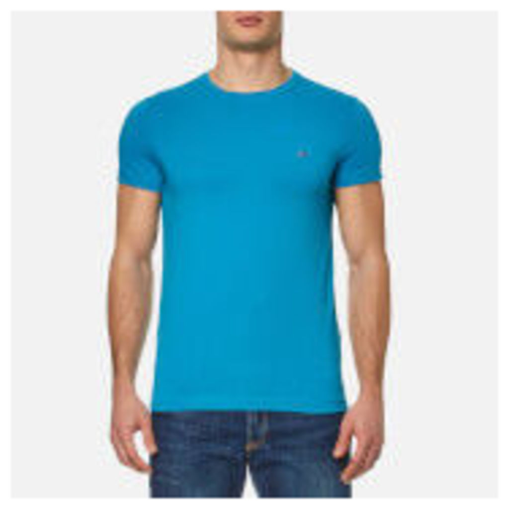Tommy Hilfiger Men's New Stretch Crew Neck T-Shirt - Nautical Blue - XXL