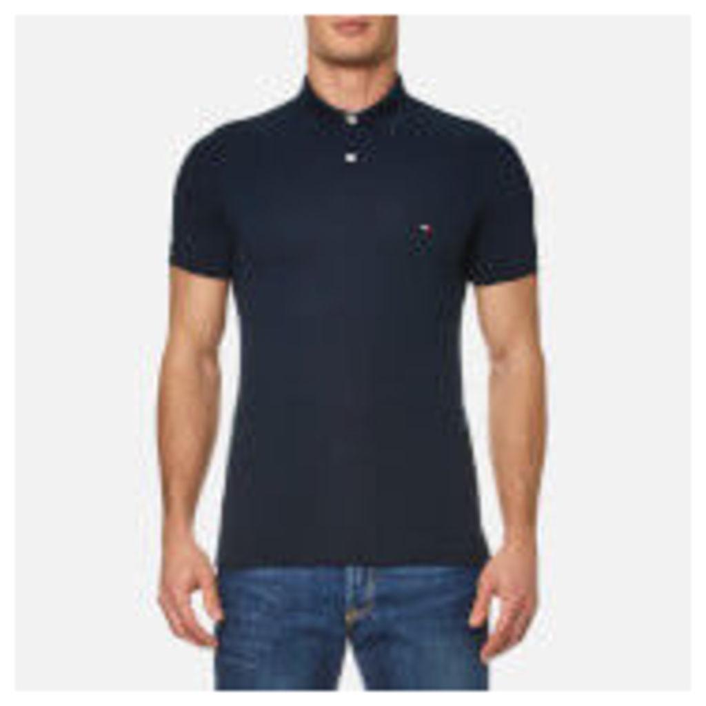 Tommy Hilfiger Men's Contrast Collar Polo Shirt - Midnight - XXL