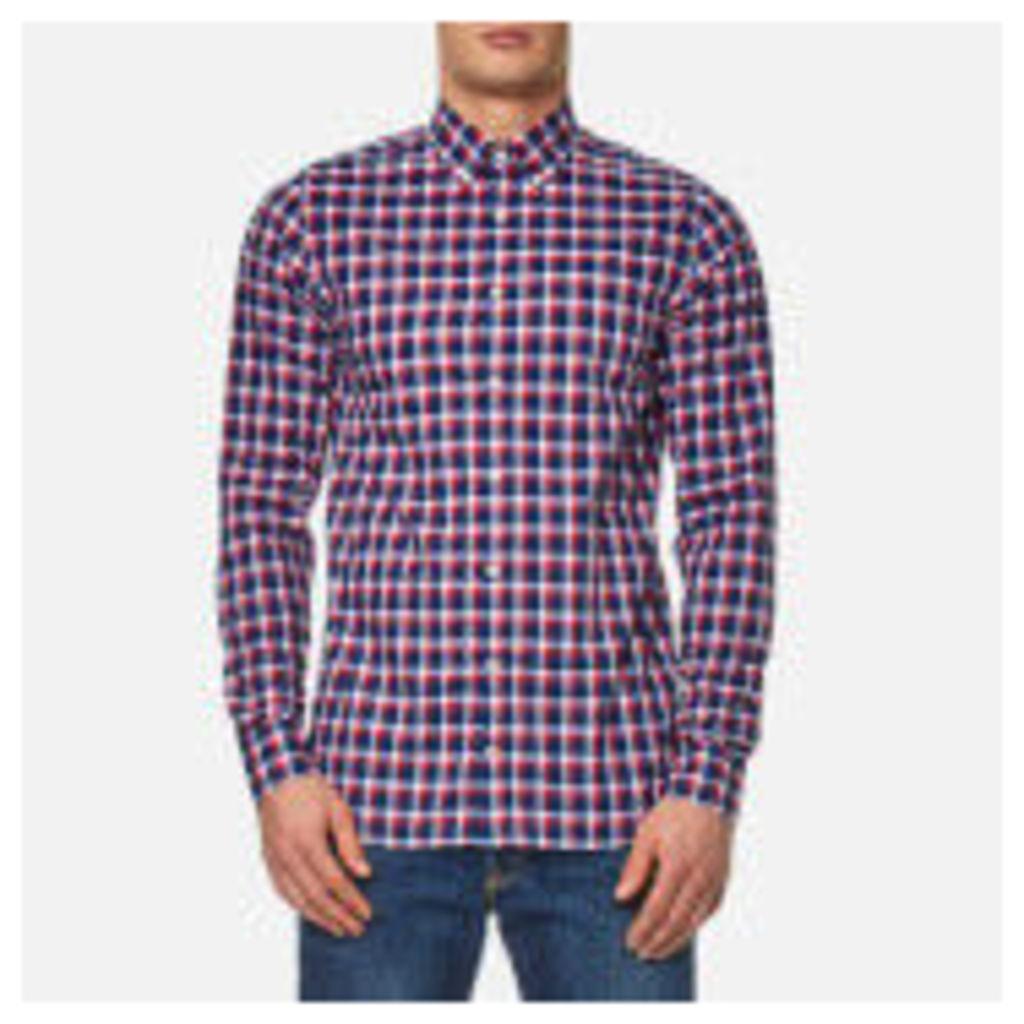 Tommy Hilfiger Men's Lance Check Long Sleeve Shirt - Dutch Navy/Sundried Tomato - XXL
