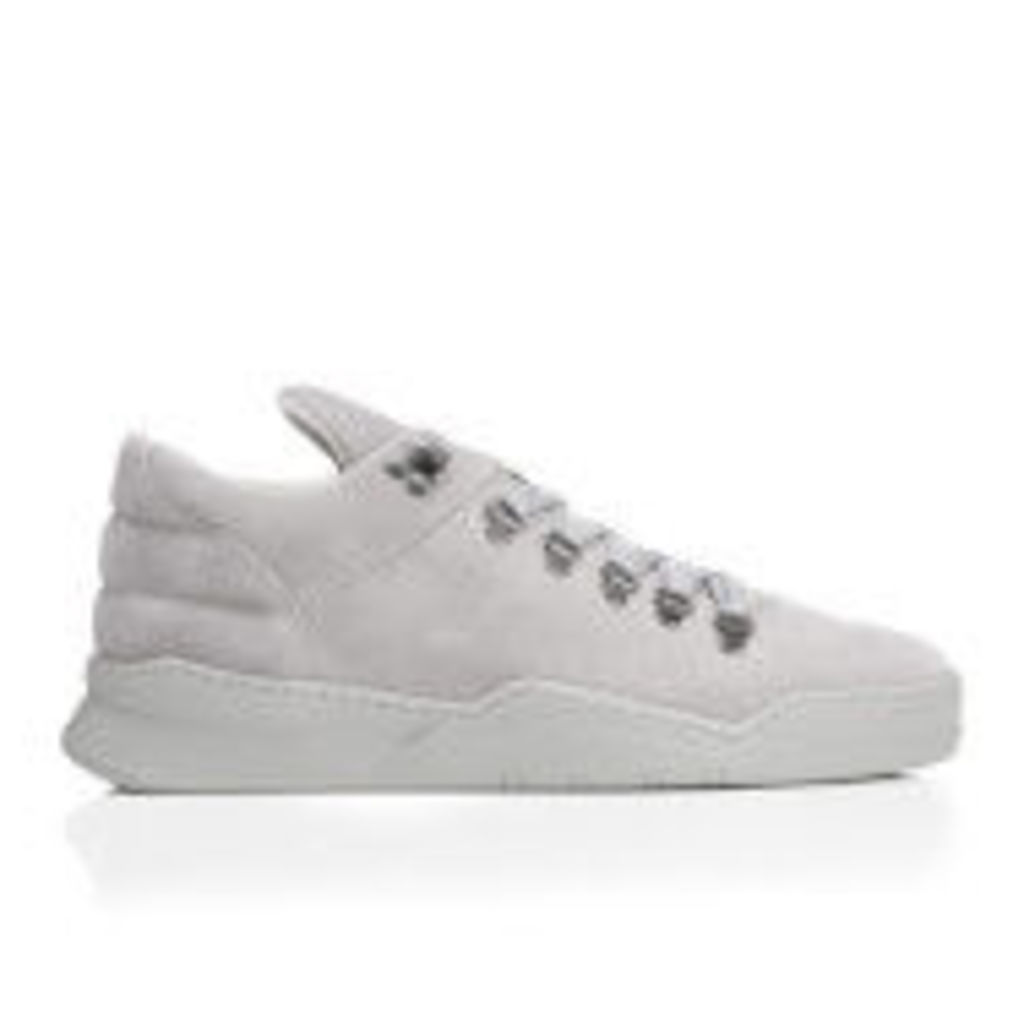 Filling Pieces Men's Ghost Suede Tonal Mountain Cut Trainers - Grey - UK 11