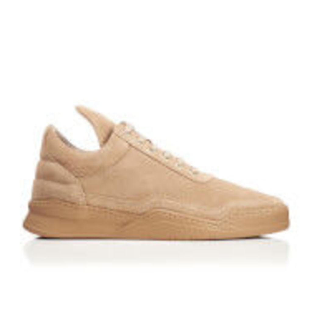 Filling Pieces Men's Ghost Suede Tonal Low Top Trainers - Sand - UK 11