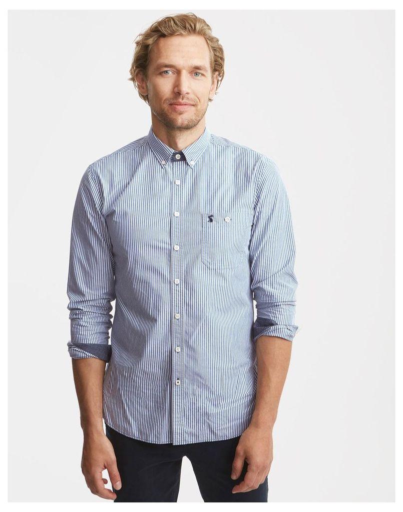 Blue Stripe Hewney Classic Fit Shirt  Size L | Joules UK