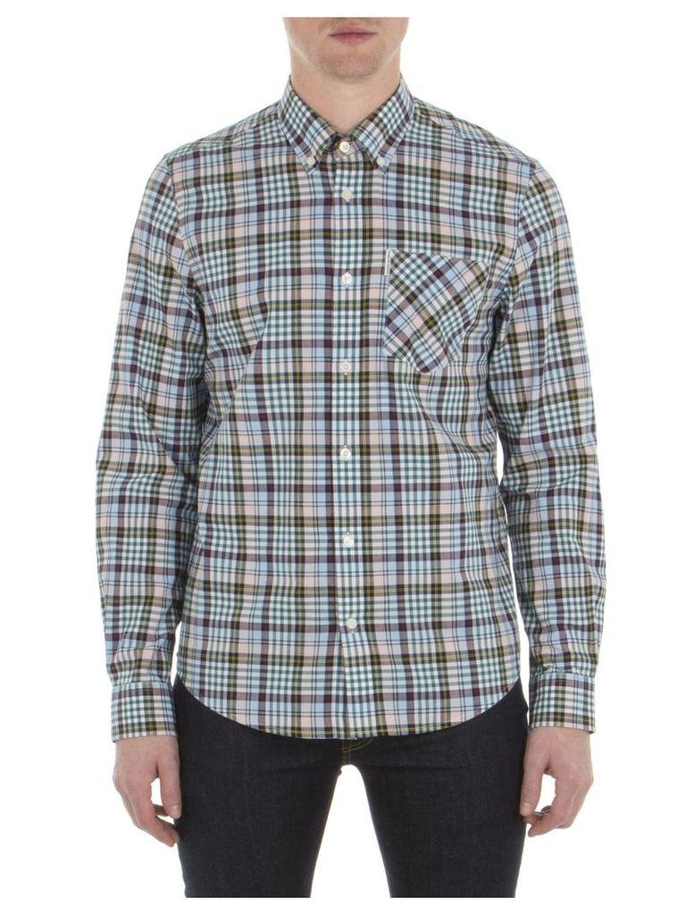 Long Sleeve Tartan Gingham Shirt XXS G03 Chalk Pink