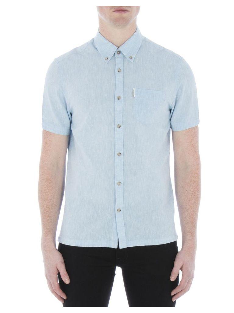 Short Sleeve Linen Shirt XXS SKY Sky Blue