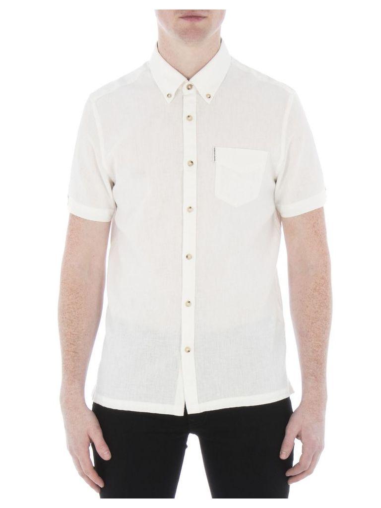 Short Sleeve Linen Shirt XXS OFW Off White