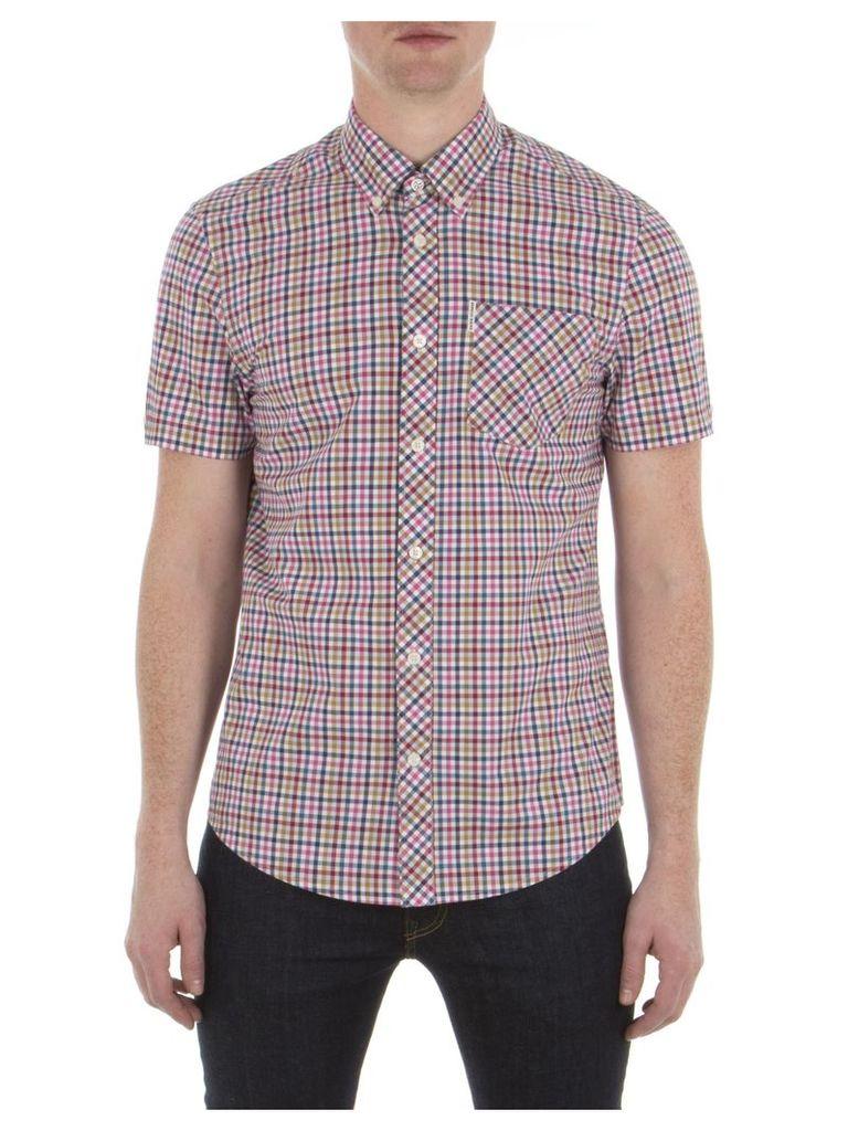 Short Sleeve Multicolour Gingham Shirt XXS 654 Sunflower