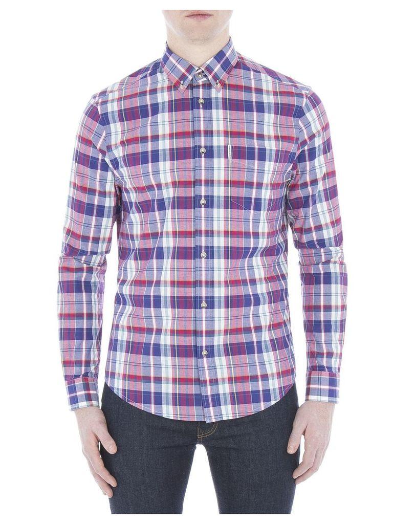 Long Sleeve Madras Check Shirt XXS P11 Pigment Blue