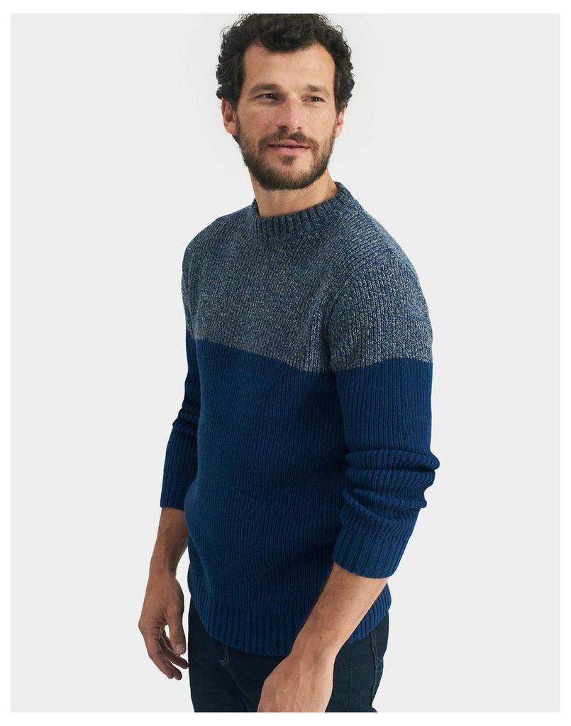 French Navy Selworth Colour Block Jumper  Size XL | Joules UK