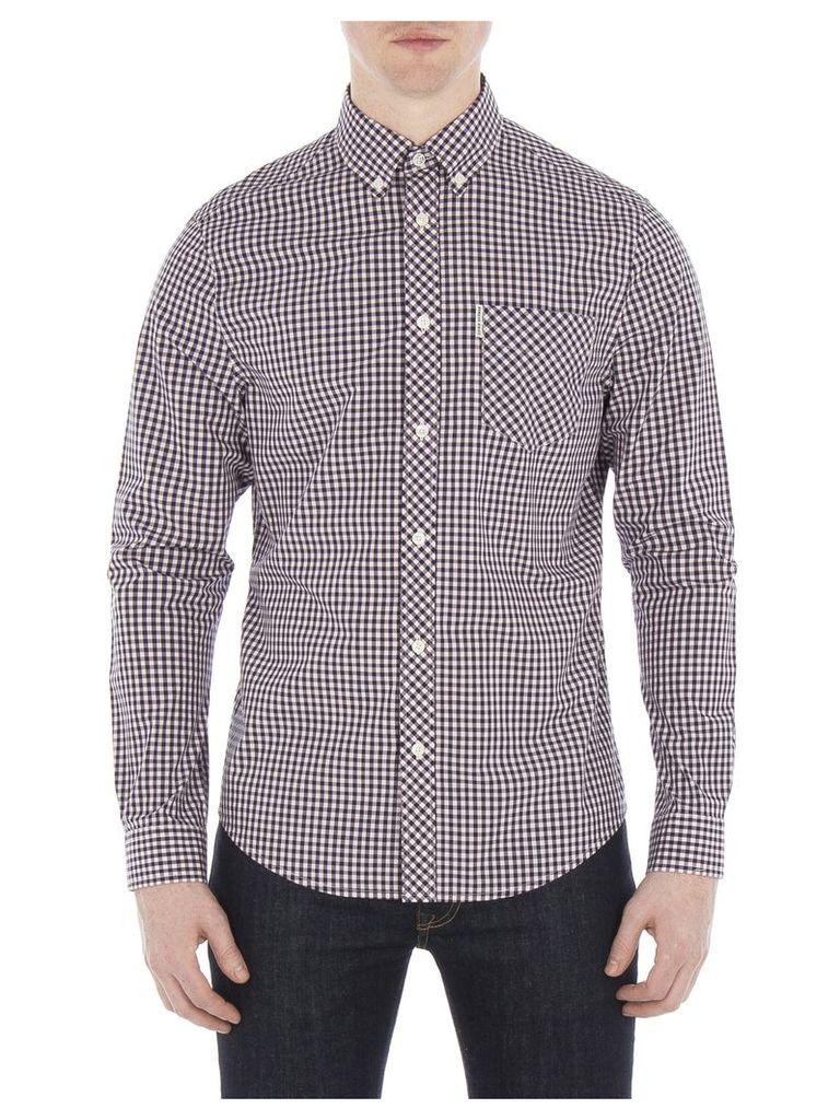 Long Sleeve Core Gingham Shirt XXS G03 Chalk Pink
