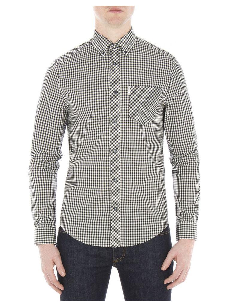 Long Sleeve Core Gingham Shirt Sml B32 Jet Black
