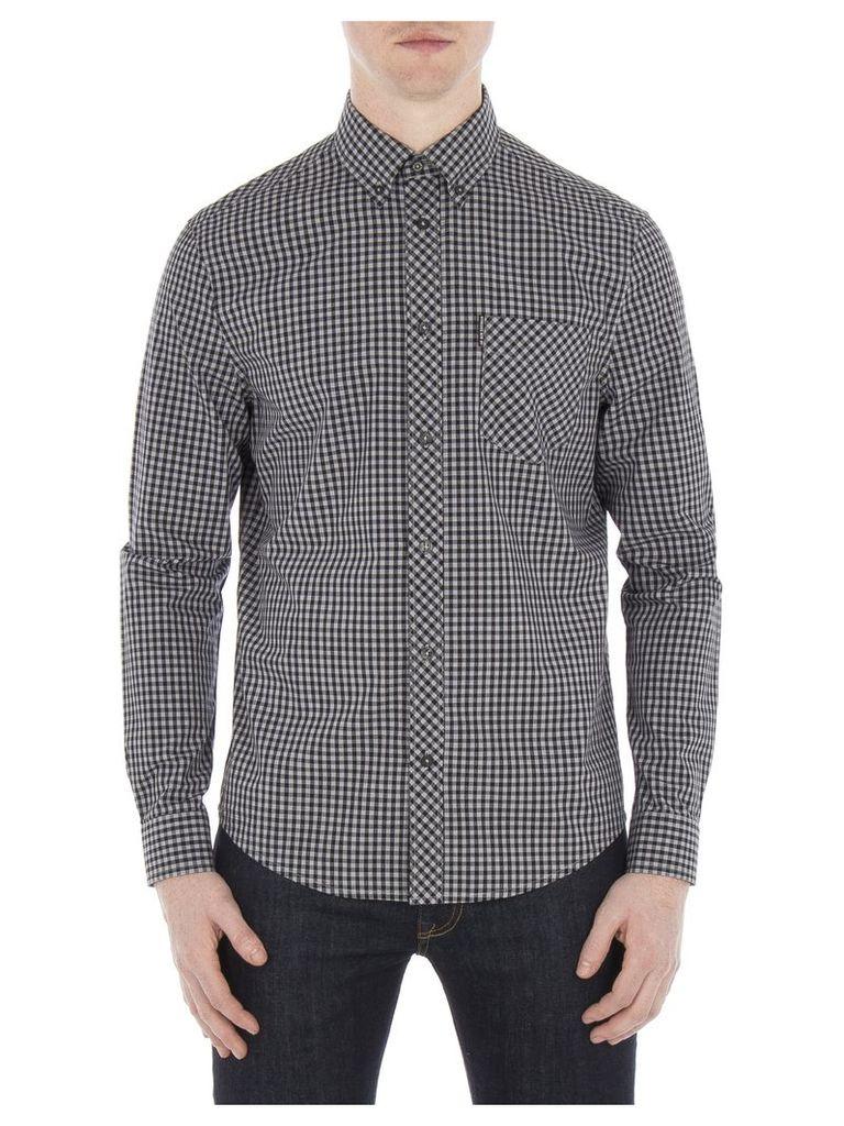 Long Sleeve Core Gingham Shirt 4XL 89H Graphite Grey